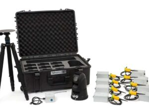 A tactical security kit with hard case, underground motion detectors, camera and stand by Sesnoguard