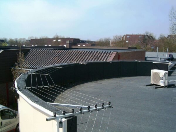 POWER-SENS security system mounted on a roof for rooftop protection.