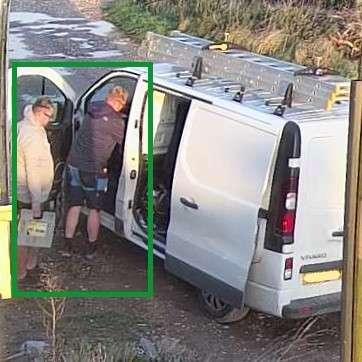 CCTV Camera showing human image capture