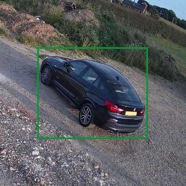 CCTV image of a vehicle image capture.