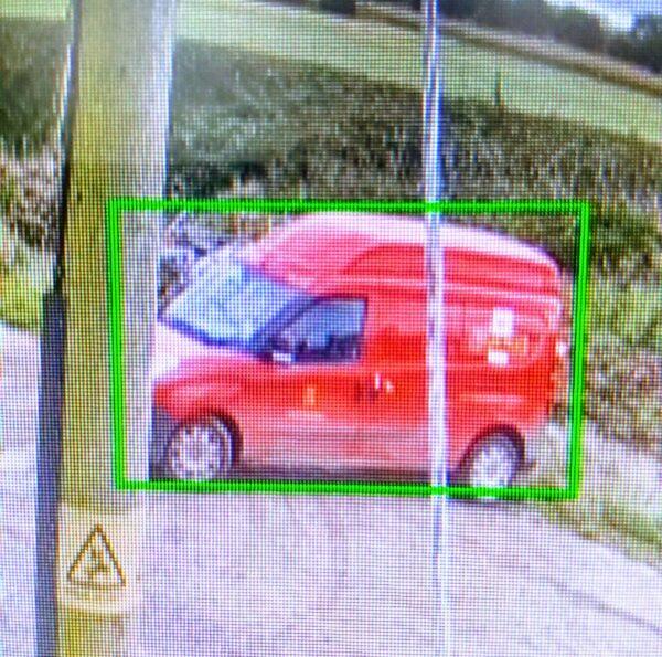 A video camera tracking a video using AI
